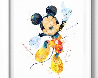 Mickey mouse home decor etsy for Mickey mouse home decorations