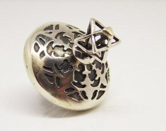 Dreidel Sterling silver Handmade ,  Collectors ,  art item ,  Hanukkah Dreidel  ,Jewish Art  , Dreidel Sterling silver ,Dreidel ,new Dreidel