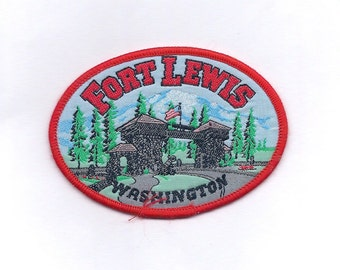 Vintage Fort Lewis Army Patch