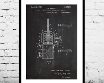 Pasta Maker Patent, Pasta Maker Poster, Pasta Maker Blueprint, Pasta Maker Print, Pasta Maker Art, Pasta Maker Decor p229
