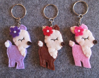 Keychains - Hind Keychains - Deer keychains - Felt keychains - Party Favors