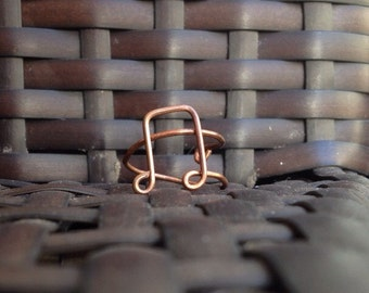 ADJUSTABLE Oxidized Copper Music Note Ring