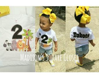 Little Safari Birthday Shirt