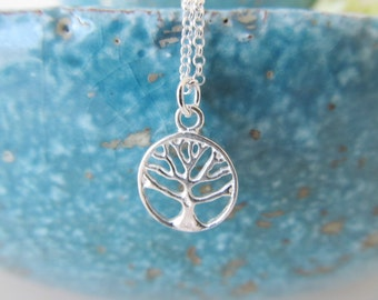 Sterling silver tree necklace, tree necklace, tree of life