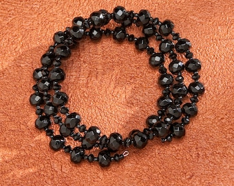 Beautiful Bracelet with Black Crystal for Her <3 *