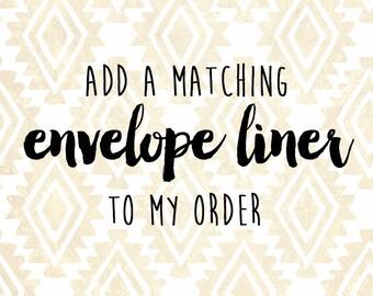 Matching Envelope Liner