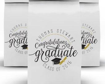Graduation Favors, Class of 2017, High School, Grad Candy Bag, Favor Box, College Grad, Candy Bag, Favor Bag
