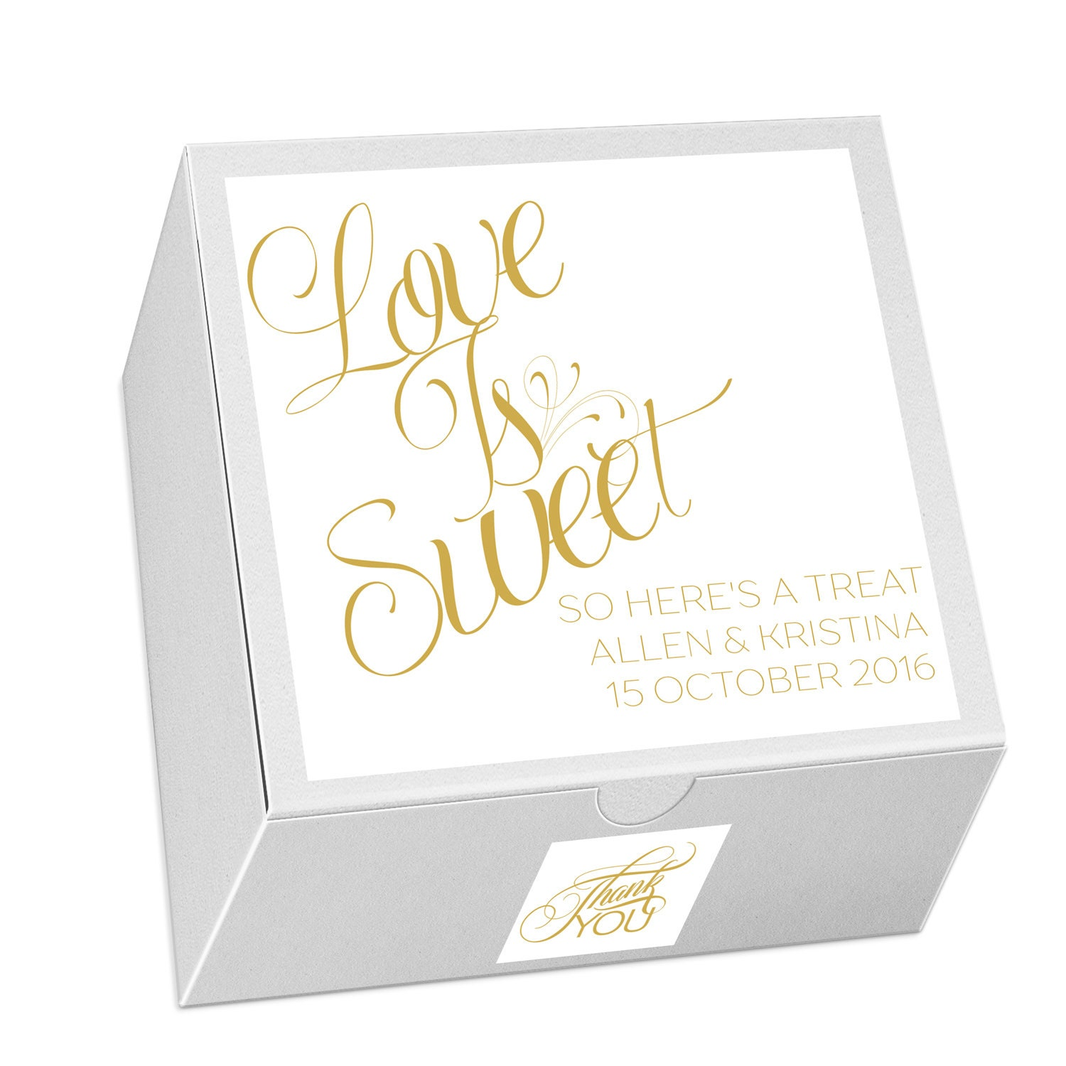 Small Wedding Cake Box Wedding Favors Mr and Mrs Event