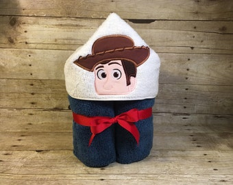 Cowboy Hooded Towel