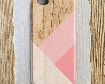 Pink Phone Case Pink iPhone 6 Plus Pink Samsung S6 Pink Samsung S7 Edge Case Pink Tough Case Pink SE Case Wood iPhone Case Geometric Wood S7