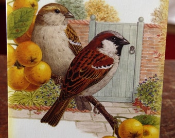 Two Birds on a Branch Card