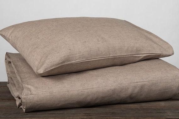 Brown linen pillow case linen pillowcase cotton pillowcase