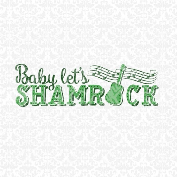 Shamrock St. Patricks Day Set Monogram SVG STUDIO Ai EPS scalable vector instant download commercial use cutting file cricut silhouette