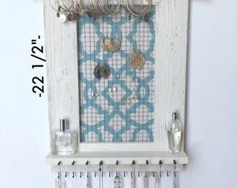 """Jewelry Organizer - 22 1/2"""" x 15 1/2"""" Hanging Jewelry Organizer - Jewelry Holder - Jewelry Storage"""
