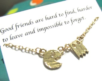 Friendship necklace | Best Friend Necklace |A5Gold Video Game| Best Friend Gift| Birthday Gift|Dainty Necklace