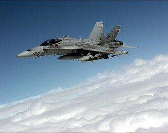 24x36 Poster . Spanish Air Force Ef-18A Hornet F-18