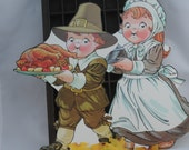 Campbells Kids Celebrate Thanksgiving, Wonderful Collectible Campbells Boy and Girl Pilgrims A30  (AI)