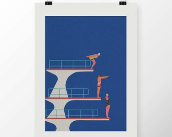 "A2 Giclee Print ""DIVE"" By Celeste Potter"