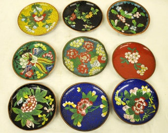 Lot of 9 Chinese Cloisonne pieces