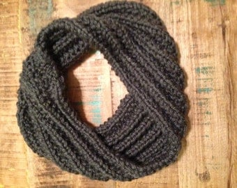 Loose Fitting Dark Gray Cowl