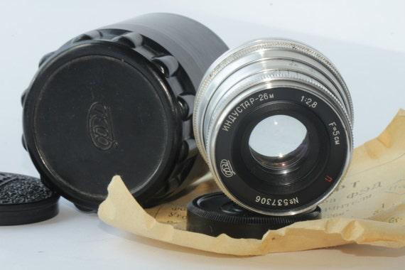 Industar-26M 2.8/52mm Vintage Old Soviet Russian Lens M39 I-26M Leica N537306