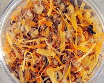 Chamomile, Calendula and Fennel Tea - Dried Organic Herbal Tea - Loose Leaf Tea - Dried Flowers