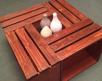 Handmade crate table. Indoor or garden