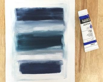 Grey Blue. Original Abstract Art.