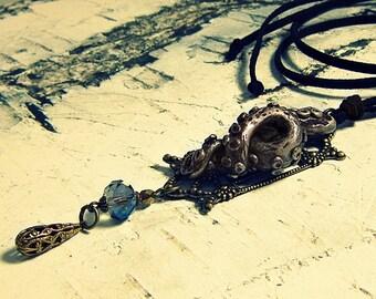 Tentacle Pendant, Tentacle Jewelry, Tentacle Necklace, Octopus Tentacle, Tentacle Jewlry, Tentacle Accessories, Vintage Inspired