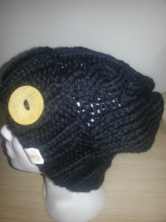 Black cap, mod. Beckett Hat designed by Heidi May