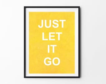 Just let it go (poster) with free shipping
