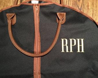 Personalized Garment Bag - Monogrammed Mens Hanging Bag - Travel Luggage - Suit Bag - Men's Gift