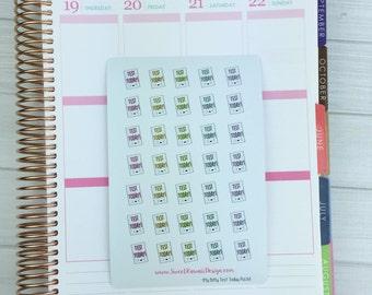 Itty Bitty Kawaii Test Today Stickers - Pastel