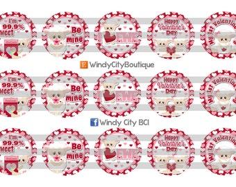 Valentine's Day Bottle Cap Images- #4