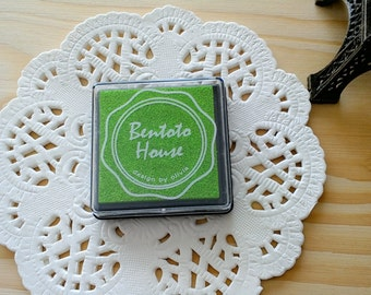 1pc BENTOTO HOUSE Ink Pad/Green / Finger Paint/DIY