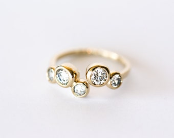 1920 Gold plated ring Cubic zirconia ring Adjustable size Zirconia ring Jewelry ring Ring cubic zirconia Jewelry ring zirconia 1 pc