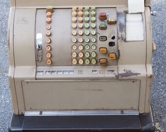 Vintage National Cash Register, Old Cash Register, Mechanical Cash Register. WAS_699.00