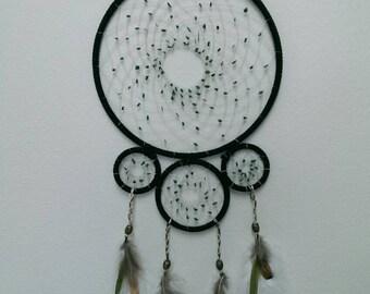 dreamcatcher with malachite beads