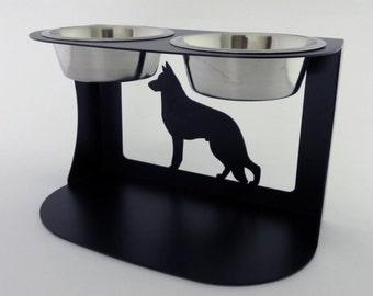 German Shepherd Dog Bowl Stand