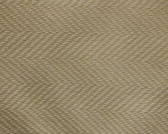 Heavy Cream Herringbone Drapery Fabric