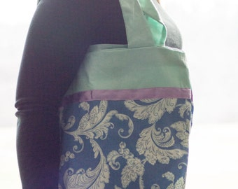 Handmade two- tone tote bag