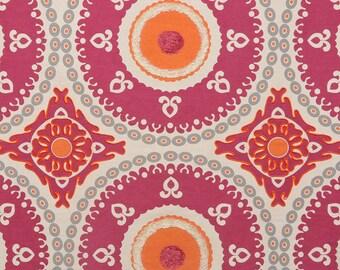 DESIGNER ETHNIC Chic SUZANI Medallions Fabric 10 Yards Fuchsia