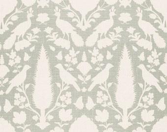 SCHUMACHER CHENONCEAU FRENCH Toile Linen Fabric 10 yards Aquamarine