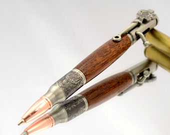 Hunting Gift, Deer Head Pen, Gifts for Hunters, Deer Hunting, Deer Head, Deer Antler, Wooden Pen, Bolt Action Pen, Bullet Pen, Gift for Him