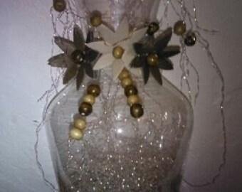 Glass Ornate vase decorated Home decor