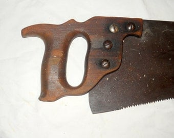 Vintage Handsaw, Painting, Folkart, Saw Painting, FREE U.S. SHIPPING
