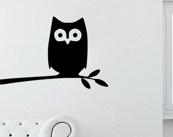 Apple Animal Sticker, Black Owl Palm Rest Decal, Pc Tablet Fridge Wall Macbook Keyboard T31