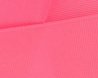 """1.5"""" Grosgrain Ribbon Solid 145 Pink Sorbet 5yd"""