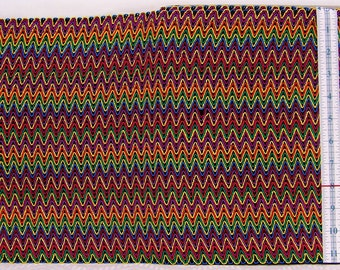 "Rare Multi-color European Zigzag 11-7/8"" Gimp Lame Fabric Trim (2 yards, 10"")"