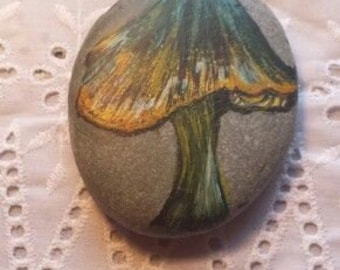 Hand painted welsh beach stones .